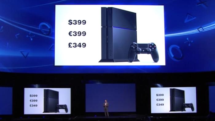 Sony E3 2013 PS4 price