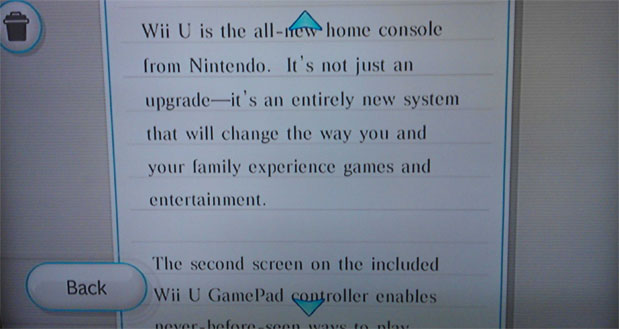 Nintendo message to Wii owners about Wii U