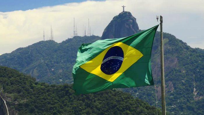Brazil flag Rio de Janeiro